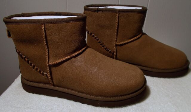 8d3834a698a UGG Australia Mens Classic Mini Deco Chocolate Sheepskin BOOTS US 9 UK 8 EU  42