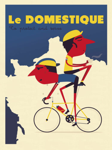 Protect and Serve by Spencer Wilson Art Print Poster Bike Cycle Cycling 13x19
