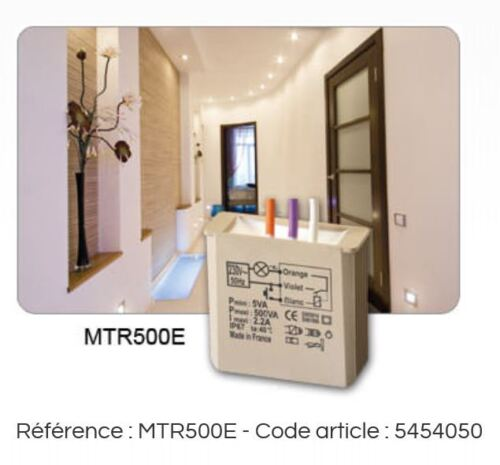 Télérupteur encastré MTR500e 500W yokis 5454050