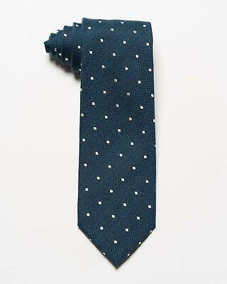 "Tom Ford NWT $270 Blue White Polka Dot Print Silk Wool Blend Tie 3.2/"""