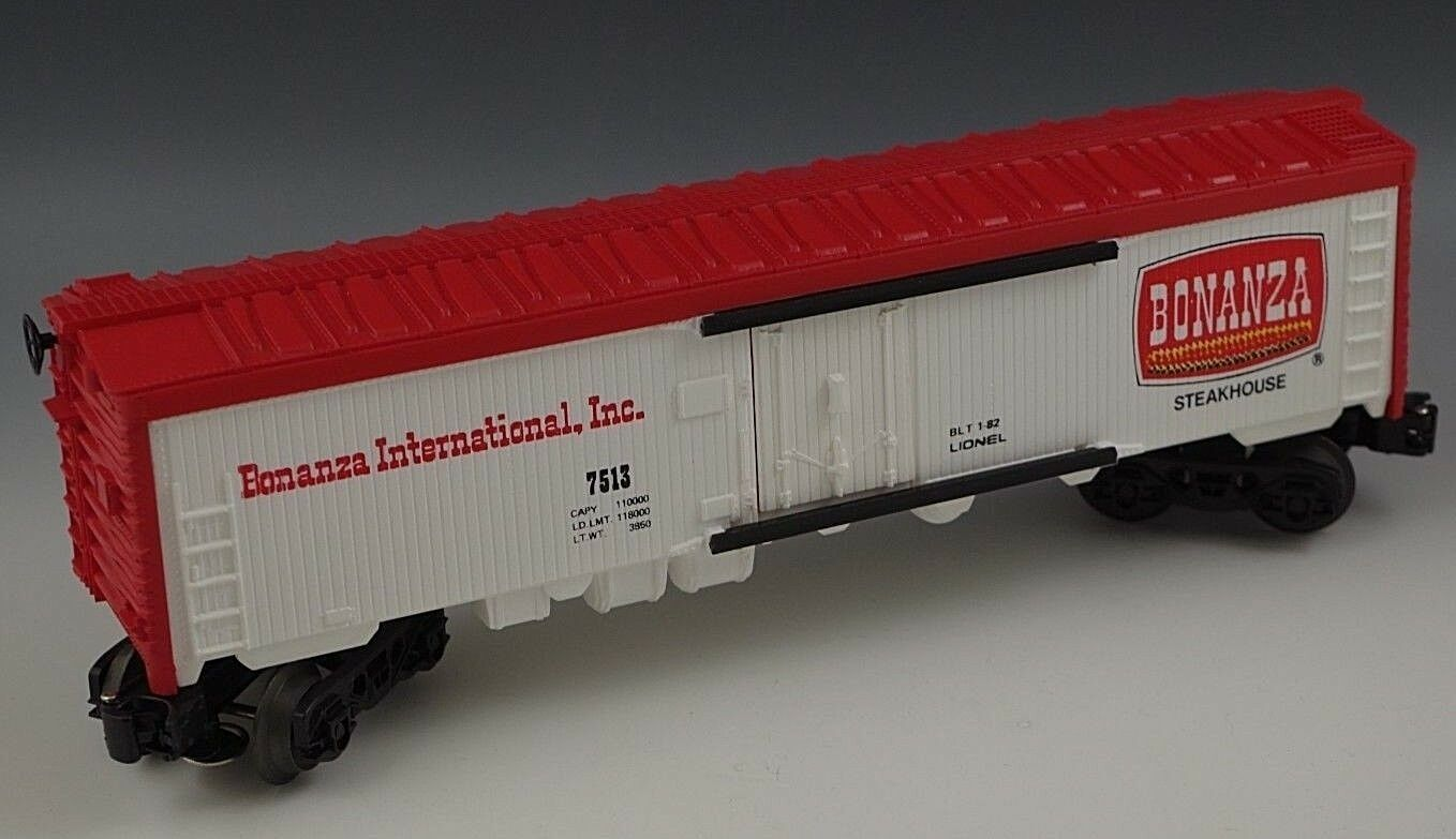 LIONEL BONANZA REEFER 6-7513 TRAIN CAR O 027 GAUGE MIB