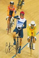 CHRIS HOY HAND SIGNED LONDON 2012 OLYMPICS 12X8 PHOTO GREAT BRITAIN.