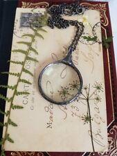 Loupe Necklace, Boho Necklace, Loupe pendant, Glass Necklace