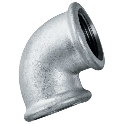 """Galvanised Malleable Iron Equal Elbow Water /& Air 1//4/"""" to 3/"""" BSP Steam Gas"""