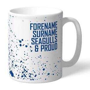 Brighton & Hove Albion F.c - Personalised Ceramic Mug (proud) Effet éVident