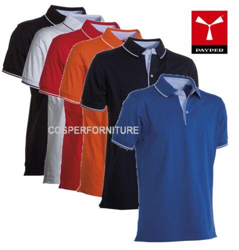 Polo uomo 100% cotone jersey Cambridge Payper taglie forti maglia anche 4xl 5xl