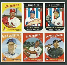 2008 Topps Heritage Advertising Panels / Lot of 4 includes Chris Davis panel