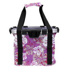 0386ab8e98b Cycling Bike Front Basket Bicycle Handlebar Bag Foldable Carrier Quick  Release