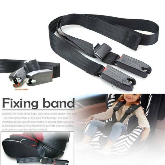 Children Baby Safe Car Seat Strap Adjustable Fixing Belt Connector Isofix Latch