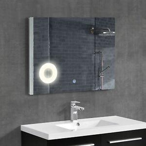 neu.haus] Miroir du mur Miroir de salle de bains +éclairage design ...