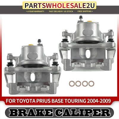 2PCs Brake Caliper Front Left Right For 2004-2009 Toyota Prius Base