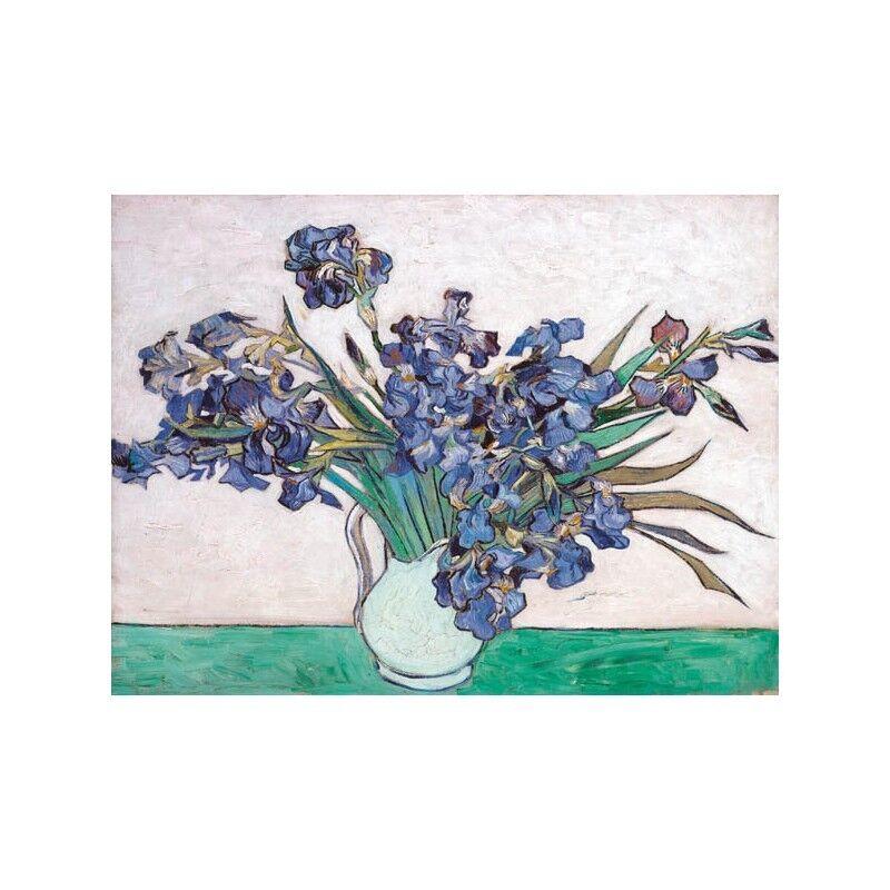 Quadro su Pannello Pannello su in Legno MDF Vincent Van Gogh Irises 2200e7