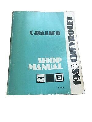 1983 Chevy Chevrolet Cavalier Shop Manual w. Wiring ...