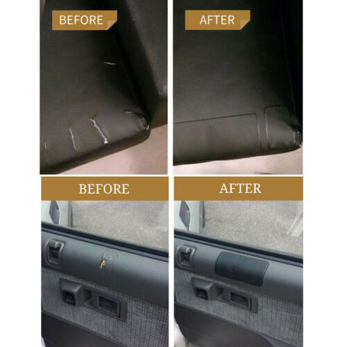 4X Black Repair Patch Renew Aging Furniture Surfaces Durable Synthetic Leather