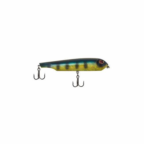"Sebile 4 1//4/"" Flat Belly Walker Topwater Fishing Lure 3//4 Oz Barred Gold Shiner"