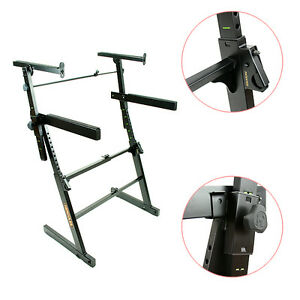 hercules ks410b double tier z keyboard stand new model 635464412009 ebay. Black Bedroom Furniture Sets. Home Design Ideas
