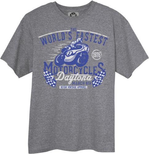 Vintage Style Daytona Road Race T-Shirt Moto GP Motorcycle Harley BSA