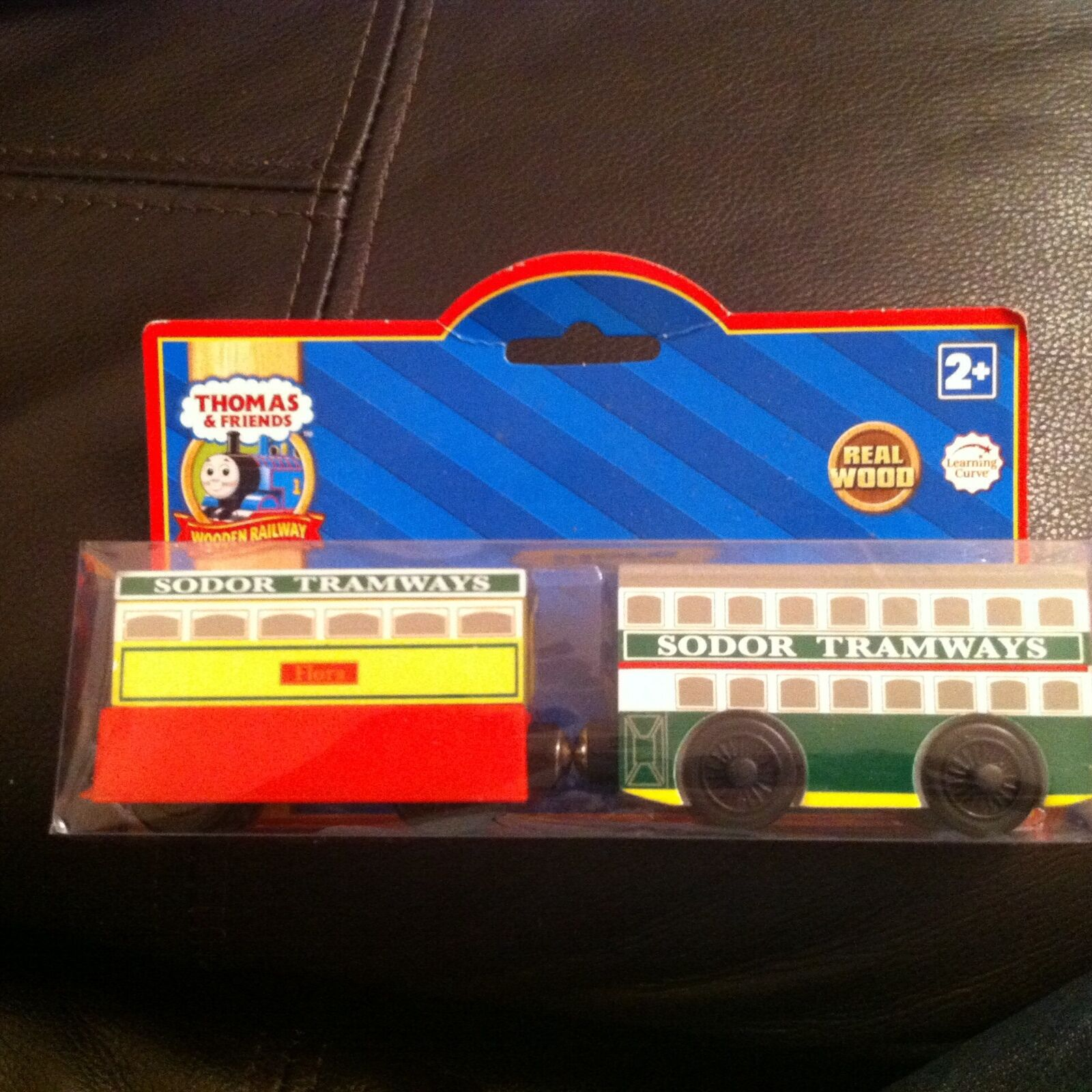 Thomas the tank wooden train flora & tram new and sealed learning curve lc98009