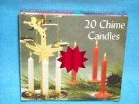 Christmas Angel Chime Candles, Red, Box Of 20, Nib, 1/2 By 4 Tall