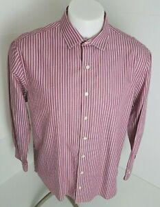 Kenneth-Men-039-s-Mult-Color-Stripe-Long-Sleeve-Size-L-Slim-Fit-Dress-Shirt-17-32-33