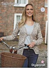 SCP-8761 Stylecraft Ladies Waistcoat Trendsetter Knitting Pattern 8761 Chunky