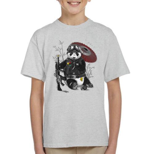 Panda Militar Kid/'s T-Shirt