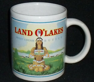 Land-O-Lakes-Mug-Cup-Sweet-Cream-Butter-Indian-Native-Maiden-Advertising