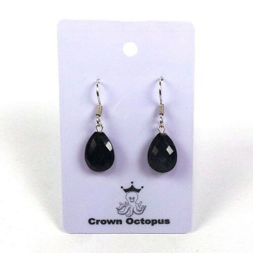 27+Cts//5gm Beautiful Natural Blue Sapphire Earring With Attached Silver Hook