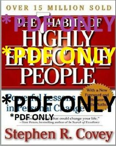The 7 Habits Of Highly Effective People By Stephen R Covey Ebay
