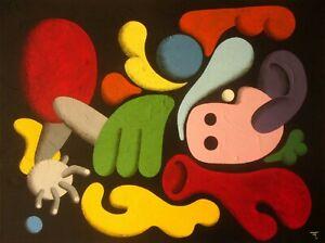 Acheter Pas Cher Tableau Original Peinture Acrylique Sur Toile - Signé - Artiste Flavien Couche