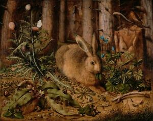 A Hare in the Forest : Hans Hoffmann : circa 1585 : Archival Quality Print