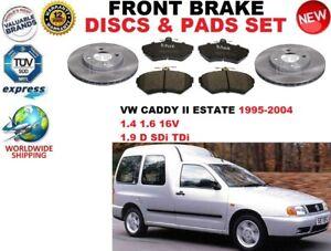 para-VW-CADDY-II-Familiar-9k9b-95-04-delantero-Juego-discos-freno-PASTILLAS-DE
