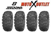 Kawasaki Brute Force 650 Tires Atv Sedona Mud Rebel Mudlite Set Of 4