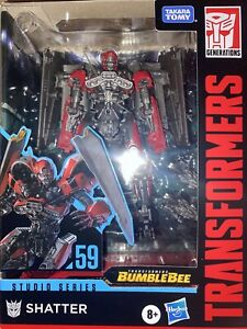 Transformers Toys Studio Series 59 Deluxe Class Bumblebee Movie Shatter Action