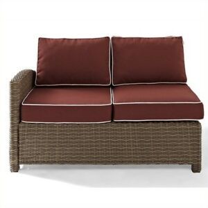 Amazing Crosley Furniture Biltmore Outdoor Wicker Sectional Right Corner Loveseat With Cushions Onthecornerstone Fun Painted Chair Ideas Images Onthecornerstoneorg