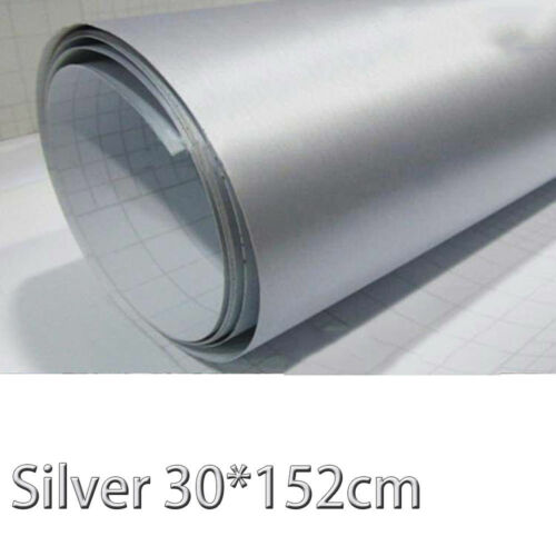 Brushed Aluminum Vinyl Film Metallic Wrap Sticker Free Air Release Decal Bubble