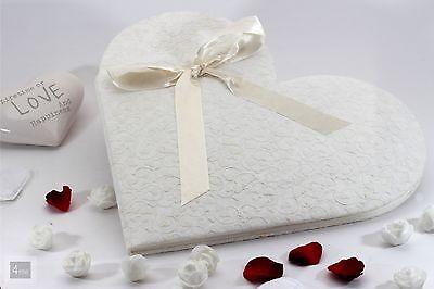 Wunderschönes Gästebuch in Herzform Handarbeit für Ihre Hochzeit Kommunion Hotel