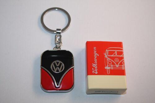 VW descubrimos autobús llavero t1 negro-rojo