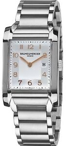 MOA10020-BRAND-NEW-BAUME-amp-MERCIER-HAMPTON-RECTANGULAR-10020-WOMENS-WATCH