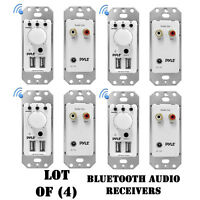 Lot Of (4) Pyle Pwpbt67 In-wall Bluetooth Audio Receiver, Dual Usb Charger, Aux on sale