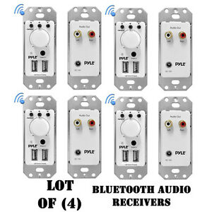AUX-Input Pyle new PWPBT67 In-Wall Bluetooth Audio Receiver Dual USB Charger