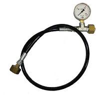 Umfüllschlauch für Argon, CO2, Schutzgas Ballongas mit Manometer - 1 m