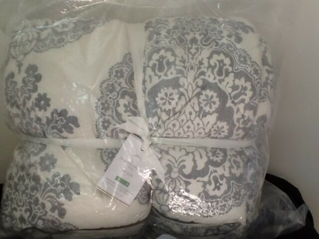 Pottery Barn Lucianna Medallion Comforter Twin Gray New