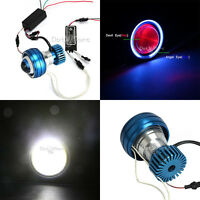 Motorcycle Led Projector Headlight Fit For Motorcycle Scooters Angel Demon Eye