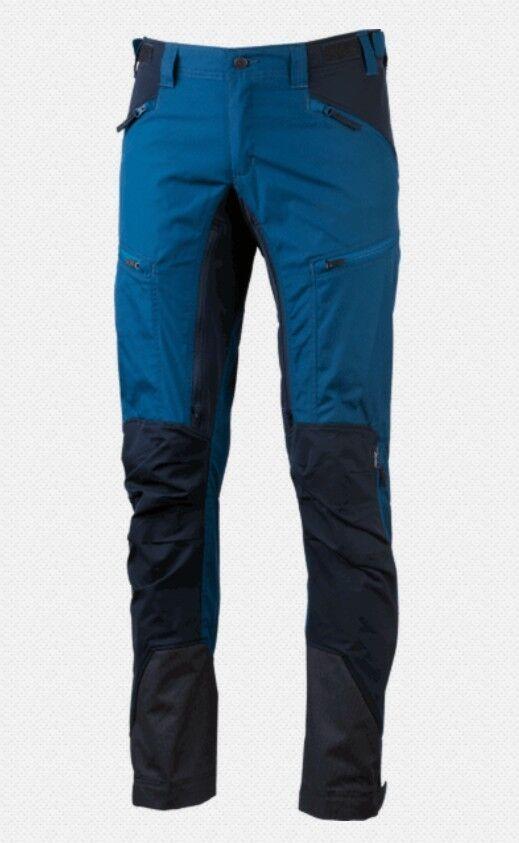 Lundhags Makke Pant Men short Size Petrol bluee Elastic Men's Hiking Trousers