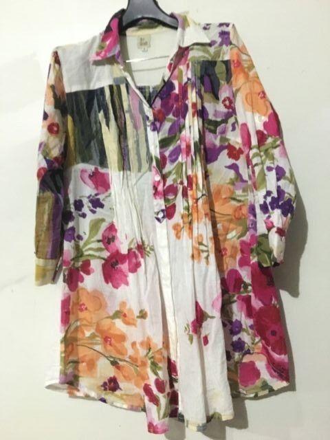 The Threads Floral Shirt Dress Women Size S 100% Cotton