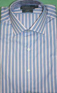 0861f72c7 Polo Ralph Lauren Shirt Bue Pink Regent Classic Fit Striped Dress ...