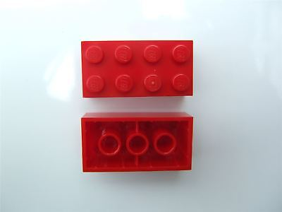 Parts /& Pieces 2 x Lego Red Brick with bow 2x4-4613174