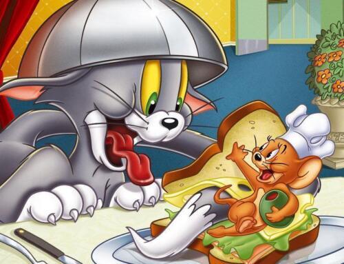 Pintura de diamantes 5D Kit de sándwich de Tom y Jerry