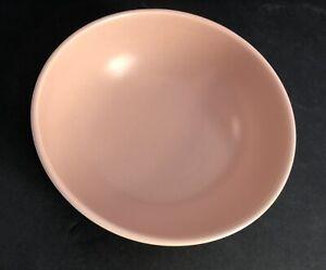 Catalina Pottery Rancho Ware Duotone Satin Coral/Ivory Vegetable Bowl GMcB Pink